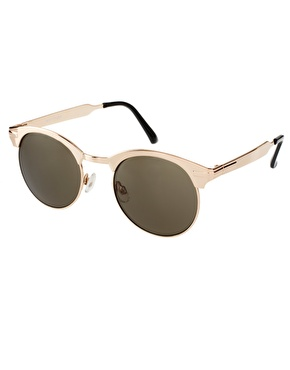 Spitfire | Spitfire Gold Round Sunglasses at ASOS