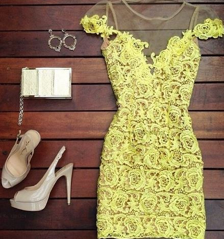 Sabrina yellow dress