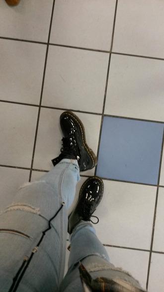 shoes black drmartens patent shoes
