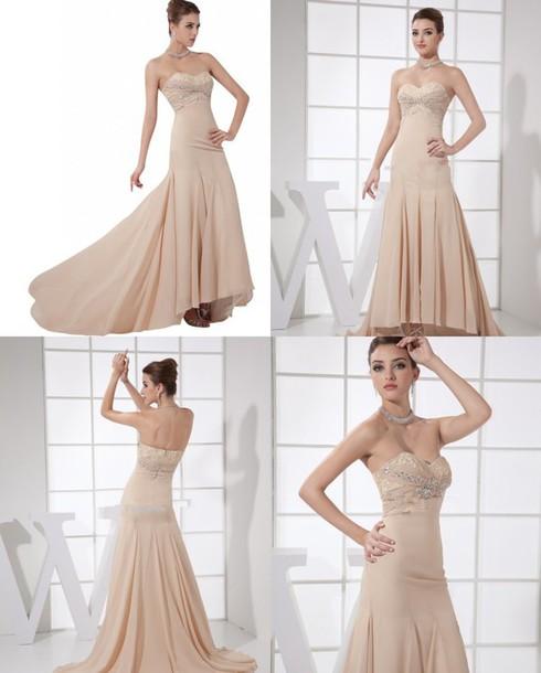 dress evening dress long prom dress hi-low dress