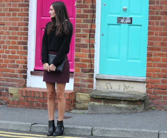 burgundy blogger peexo clutch back to school