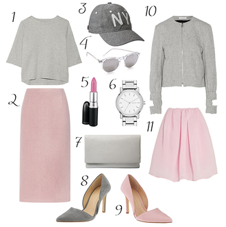 hello fashion blogger t-shirt skirt hat sunglasses make-up jewels bag shoes jacket