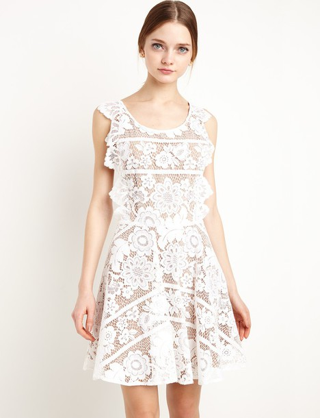 Dress For Love And Lemons Gianna Lace Apron Dress Lace Dress White Lace Dress Apron Dress For Love And Lemons Summer Dress Summer Outfits Fit And Flare Dress Spring Outfits Special Occasion