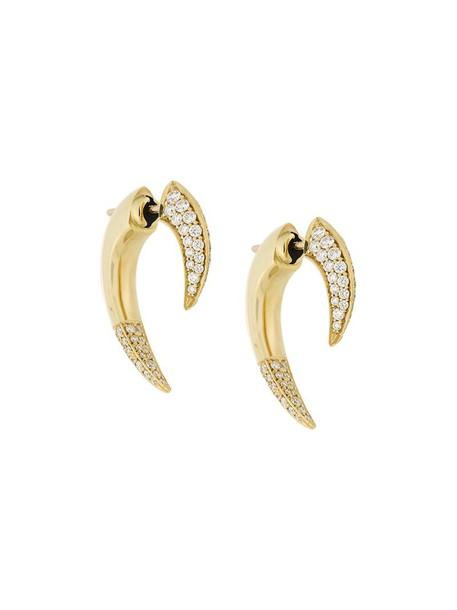 SHAUN LEANE women earrings gold yellow grey metallic jewels