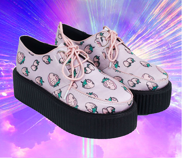 size 35-39 Kawaii strawberry platform oxford shoes · MoLa_MoLa · Online Store Powered by Storenvy