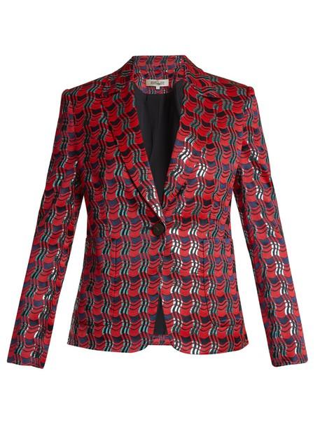 jacket jacquard red