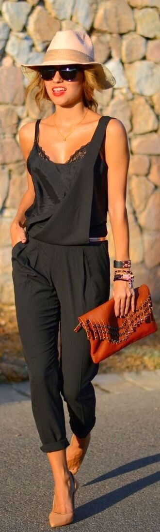 jumpsuit black romper black jumpsuit summer summer outfits overall overalls