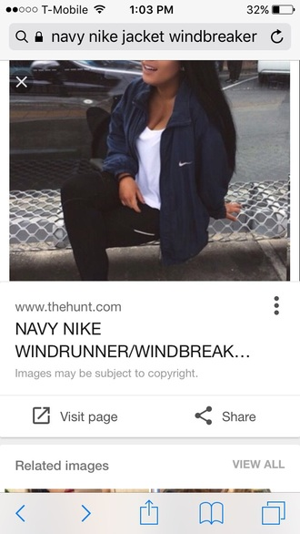 jacket nike navy windbreaker nike jacket