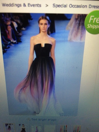 dress elie saab purple ombre ombre dress