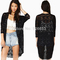 Fashion 2014 zanzea lace half sleeve cardigan crochet hollow women clothes black fit l xl-in cardigans from apparel & accessories on aliexpress.com