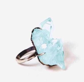 jewels ring pretty fashion stone blue stone ring blue ring pll ice ball blue wedding accessory
