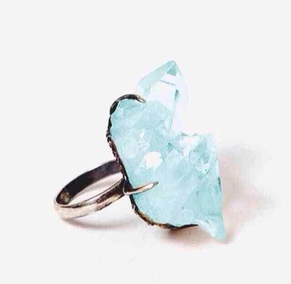 jewels stone ring pretty fashion blue stone ring blue ring