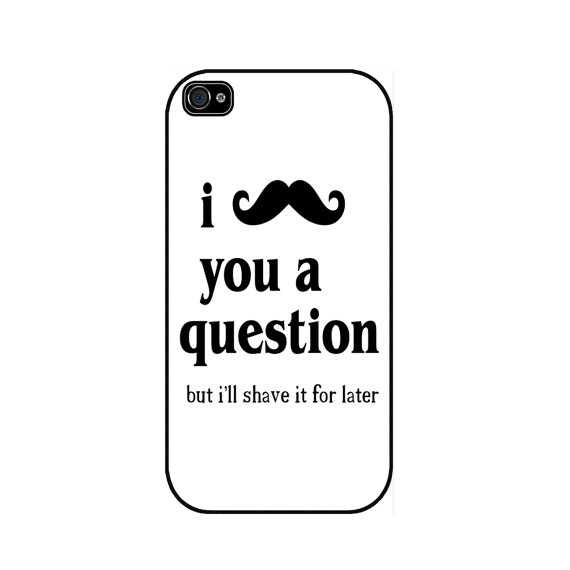 I mustache you a question white funny iphone 5 case by caseorama