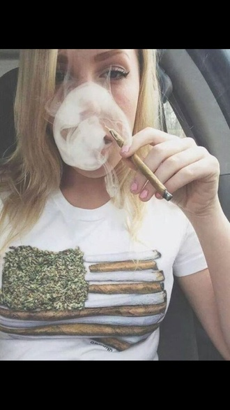 shirt american flag smoking weed cute marijuana american flag shirt weed shirt blunts paper green t-shirt white blunt smoke cannabis shirt flag fourth graphic tee dope