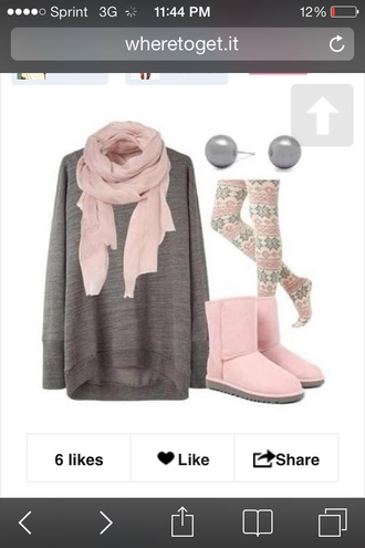 shoes jeans scarf sweater
