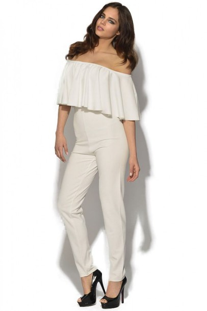 Dress Jumpsuit White White Jumpsuit Romper Celebrity Style For