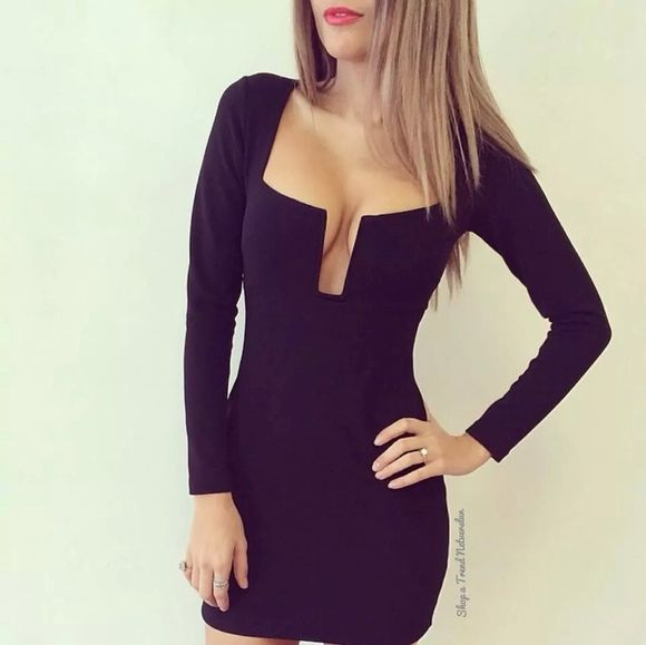 bodycon dress black dresses fashion
