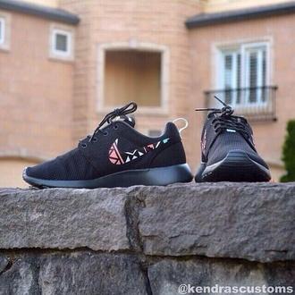 shoes nike aztec roshe run black nike roshe run roshes aztec