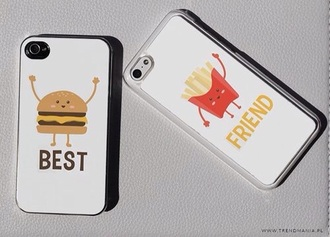phone cover iphone 5 case best friends burger and fries