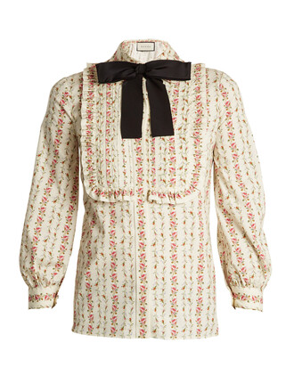 blouse rose cotton print pink top