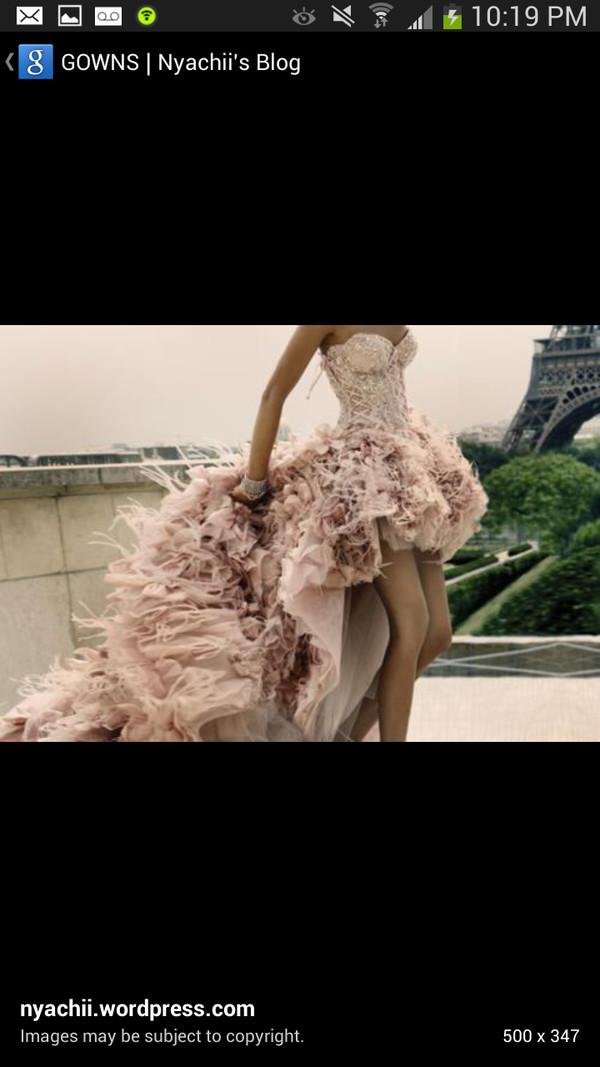 dress pink dress lace dress long prom dress prom dress high-low dresses ruffle feathers