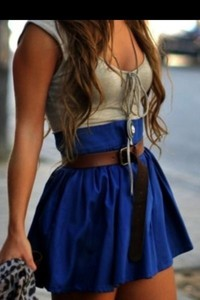 skirt blue skirt high waisted skirt