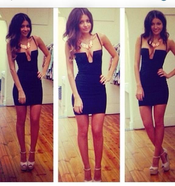 e64dc5b66f3d dress vneck dress black dress spaghetti strap bodycon dress mini dress  short dress
