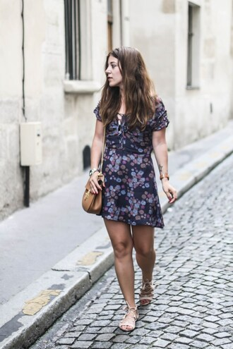elodie in paris blogger dress bag jewels shoes