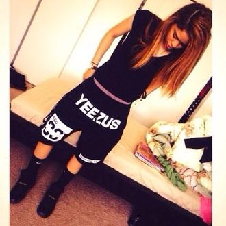 shorts black black shorts nike yeezus