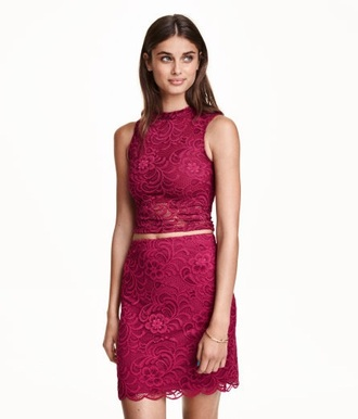 dress crop crop tops red lace redlace red lace classy girly hipster summer