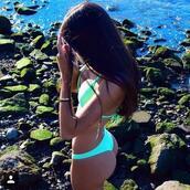 swimwear,bikini bottoms,fluorescent swimsuits,bikini