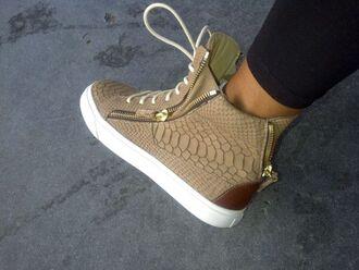 sneakers snakeskin sneakers shoes high cut sneakers