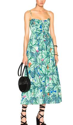 Mara Hoffman Leaf Linen Dress