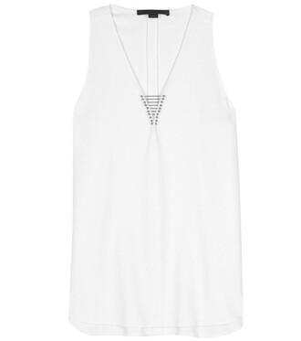 top embellished white