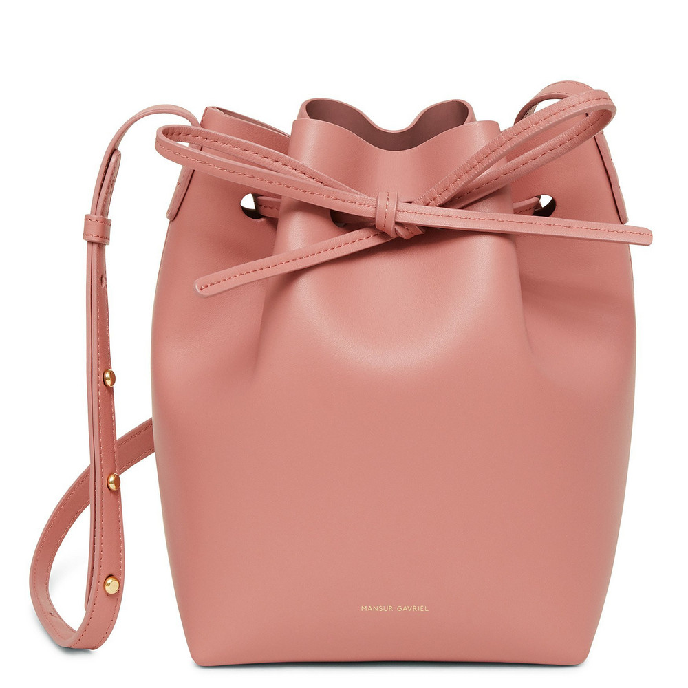 Mansur Gavriel Calf Mini Bucket Bag - Blush