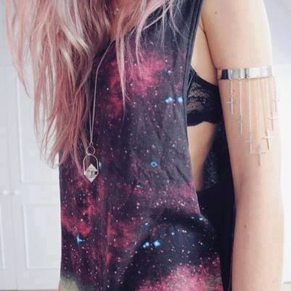 cross jewelry jewels cross cute galaxy cross necklace cool smart galaxy top bra beatiful