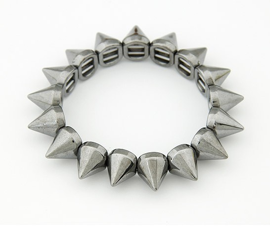 Min Order $10(Mix Items)Hot Sale Punk Fashion Antique Bronze Gold Silver Plated Stretch Bullet Spike Rivet Bracelet-in Special Store from Jewelry on Aliexpress.com