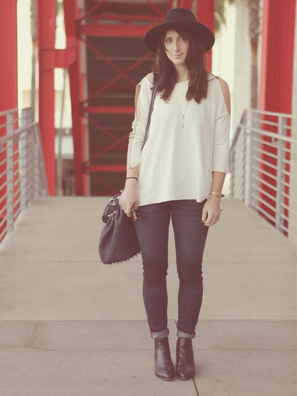 lady a la mode t-shirt hat pants bag shoes jewels