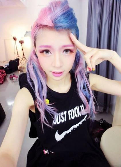 t-shirt shirt kawaii kawaii grunge soft grunge pastel black fashion tank top pastel grundge
