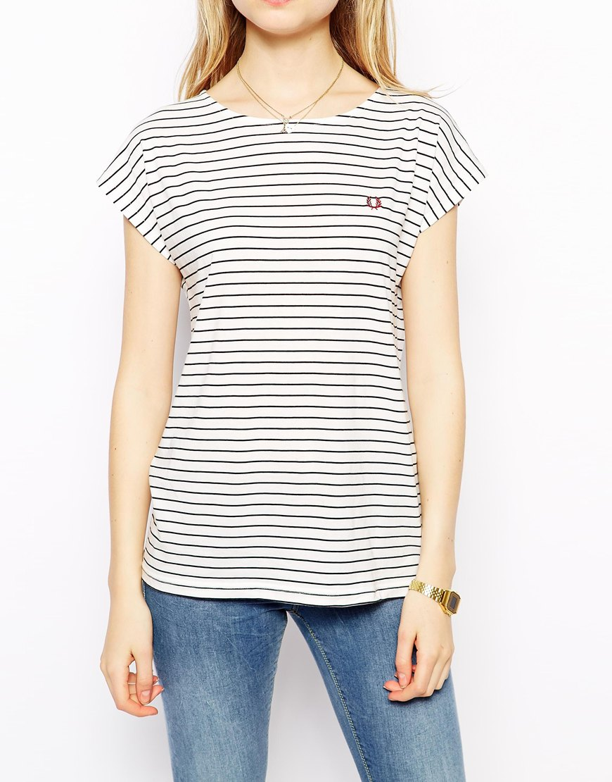 Fred Perry Striped T-Shirt at asos.com