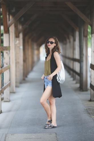 venka vision blogger top zara slide shoes
