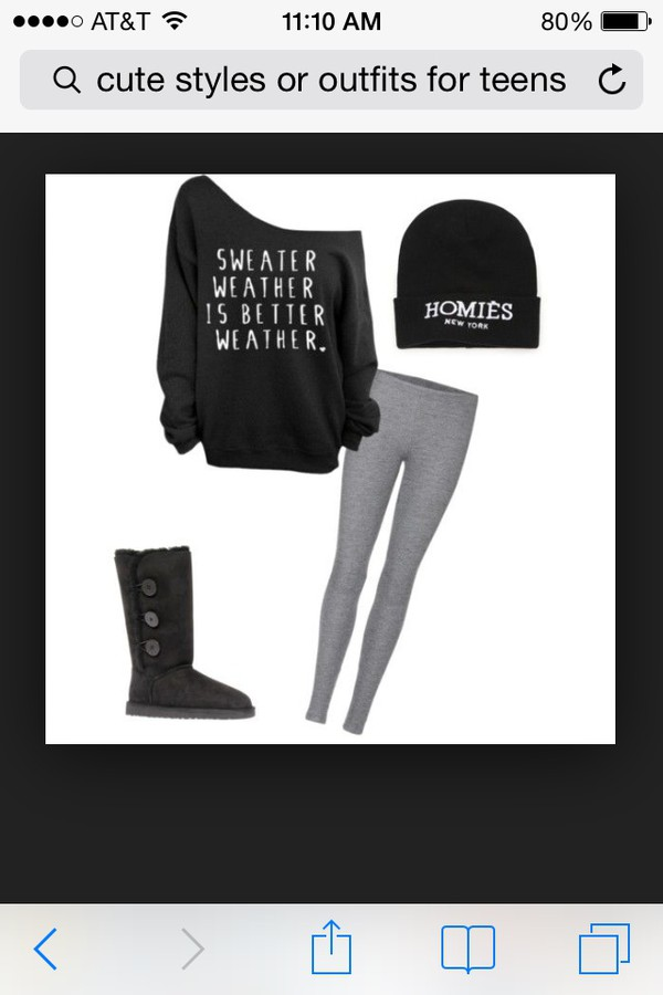 leggings grey leggings black beanie that says homies shoes grey shoes with three buttons down the side jacket black sweatshirt that goes off the shoulder