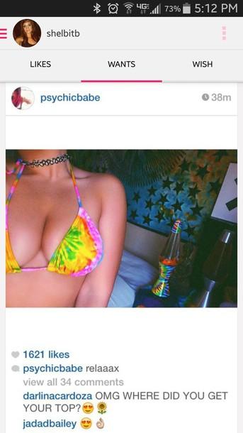 swimwear tie dye swimwear tie dye swimwear tie dye bikini hippie boho colorful