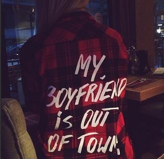 shirt boyfriend plaid plaid shirt black and red plaid red plaid quote on it funny quote shirt