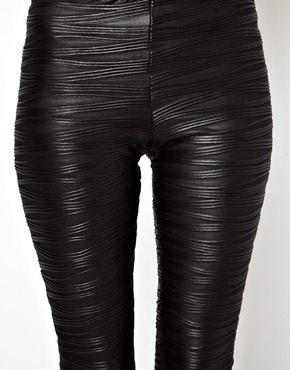 ASOS | ASOS Leggings in Pleat Effect at ASOS