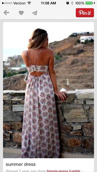 dress hippie dress maxi dress summer dress floral dress