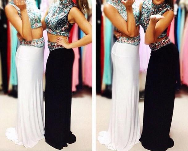 dress prom dress prom2015 2piece dress