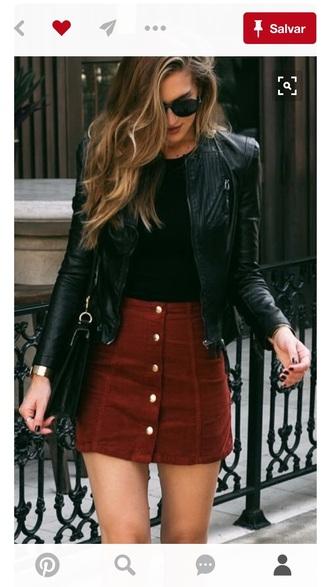 skirt button up skirt brown