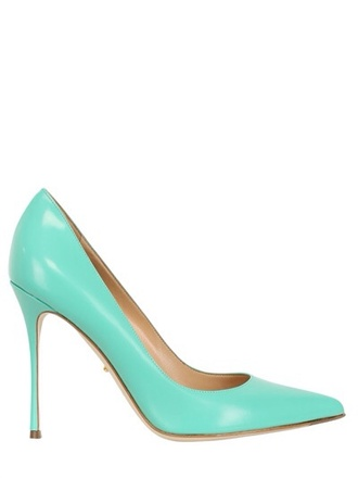 shoes sergio rossi turquoise pumps