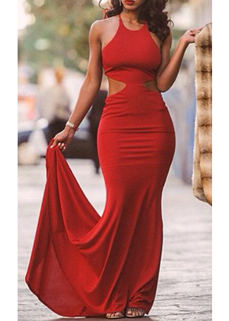 Sexy Backless Maxi Party Dress|Disheefashion